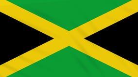 Paño que agita de la bandera de Jamaica, lazo del fondo stock de ilustración