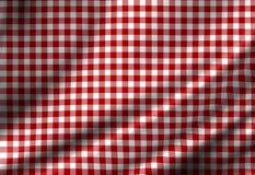Paño rojo de la comida campestre Fotografía de archivo