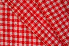 Paño rojo detallado de la comida campestre, fondo para el diseño Imagen de archivo libre de regalías