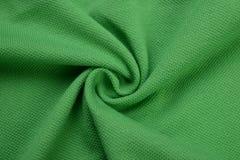 Paño verde hecho por la fibra del algodón Fotografía de archivo