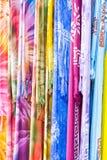 Paños coloridos Fotos de archivo libres de regalías