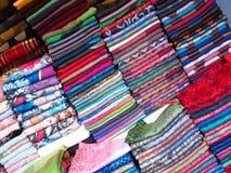 Paños coloridos Imagen de archivo libre de regalías