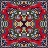 Pañuelo floral ornamental rojo de Paisley libre illustration