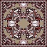 Pañuelo floral ornamental tradicional de Paisley Foto de archivo libre de regalías