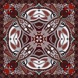Pañuelo floral ornamental tradicional de Paisley Fotografía de archivo libre de regalías
