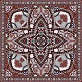 Pañuelo floral ornamental tradicional de Paisley Imagen de archivo libre de regalías