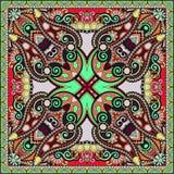 Pañuelo floral ornamental tradicional de Paisley Fotografía de archivo