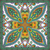 Pañuelo floral ornamental tradicional de Paisley stock de ilustración