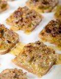 Pañuelo Panks - tostada de la carne y del queso Imágenes de archivo libres de regalías