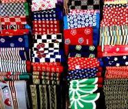 Pañuelos japoneses del furoshiki Imagen de archivo libre de regalías