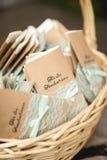 Pañuelos para la ceremonia de boda Foto de archivo libre de regalías