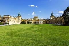 Pałac budował dla królewiątka Jan III Sobieski, Wilanow Obraz Stock