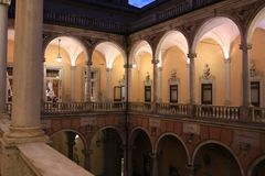 Pałac Doria Tursi _genua, Liguria, Włochy, Europa obrazy royalty free