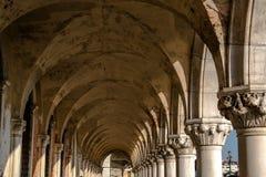 Pałac Ducale, piazza San Marco, kanał Wenecja, Włochy Obrazy Royalty Free