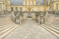 Pałac Fontainebleau w Francja obrazy royalty free