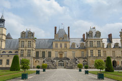 Pałac Fontainebleau w Francja obrazy stock