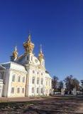 Pałac kościół święty Peter, Rosja fotografia royalty free