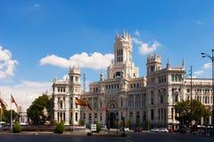 Pałac komunikacja w słonecznym dniu. Madryt, Hiszpania Obraz Royalty Free