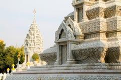 Pałac królewski świątynia w Phnom Penh Zdjęcia Royalty Free