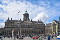 Pałac królewski Amsterdam Ja lokalizuje na zachodniej stronie tama kwadrat w centre Amsterdam zdjęcie royalty free