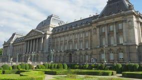 pałac królewski Brussels, Belgium, timelapse, zoom out, 4k zbiory