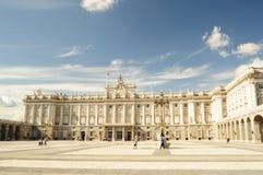 Pałac królewski Madryt obraz royalty free