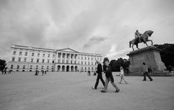 pałac królewski oslo zdjęcia royalty free