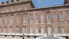 Pałac królewski w klasyku, elegancki ogród w Venaria Real, Włochy zbiory