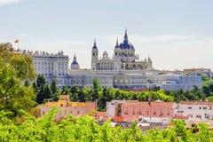 Pałac królewski w Madryt, Hiszpania fotografia royalty free