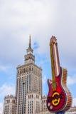 Pałac kultura i gitara Fotografia Royalty Free
