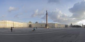 Pałac kwadrat w świętego Petersburg panoramicznym widoku Obraz Stock