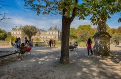 Pałac Luksemburg ogródy, Paryż, Francja fotografia stock