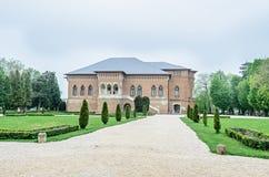 Pałac Mogosoaia blisko Bucharest, Rumunia, zewnętrzny szczegół Budowa Constantin Brancoveanu fotografia stock