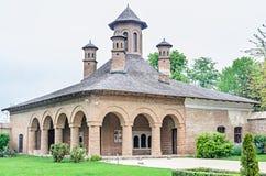 Pałac Mogosoaia blisko Bucharest, Rumunia, zewnętrzny szczegół Budowa Constantin Brancoveanu zdjęcia royalty free