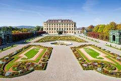 Pałac ogródy przy Wiedeń zdjęcia royalty free