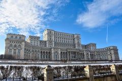 Pałac parlamentu Palatul Parlamentului łomot Rumunia obrazy royalty free