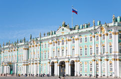 pałac Petersburg Russia st zima Zdjęcia Royalty Free