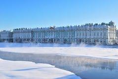 pałac Petersburg st zima Zdjęcia Royalty Free