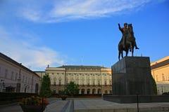 pałac prezydencki Warsaw zdjęcie royalty free
