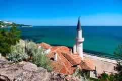 Pałac Queen Mary na Czarnym morzu w Bułgaria Obrazy Stock