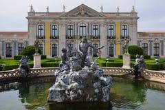 Pałac Queluz jest Portugalskim xviii wiek pałac lokalizować Zdjęcie Royalty Free