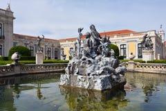 Pałac Queluz jest Portugalskim xviii wiek pałac lokalizować Obrazy Royalty Free