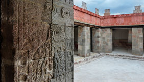 Pałac Quetzalpapalotl przy Teotihuacan Obraz Stock