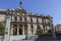 Pałac rada okręgowa Jaen neoklasyczna fasada jest Fotografia Stock