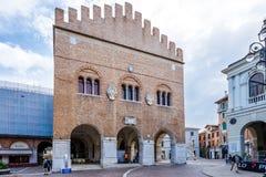 Pałac Trecento przy miejsc Signiori w Treviso Zdjęcia Royalty Free