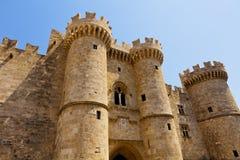 Pałac uroczysty mistrz Rhodes zdjęcie royalty free