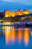 Pałac Uroczysty mistrz rycerze Rhodes Fotografia Royalty Free