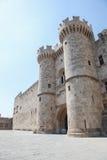 Pałac Uroczysty mistrz rycerze Rhodes, Grecja Obraz Royalty Free