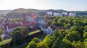 Pałac w Gdańskim Oliwie, powietrze, 08 2017, Polska, powietrze Obrazy Stock