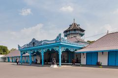 Pałac w Surakarta, Jawa, Indoensia fotografia royalty free